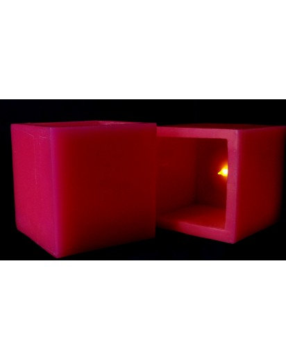 4x4 inch Scented LED Candle, Pink Rose