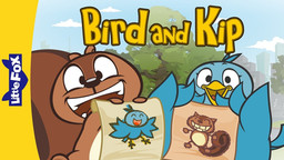 """Bird and Kip is a light-hearted series aimed at young readers. Told in 3-episode arcs, the series follows its two titular characters as they navigate the sometimes tricky terrain that comes with friendship. A quintessential """"odd couple,"""" they soon learn to appreciate their differences.  I created and wrote this while working as an editor at Little Fox, a Korean publisher that produces animated series for English-language learners.  ATOS 1.7"""
