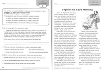 Excerpt from Reading Comprehension Fundamentals, Grade 3. (Evan-Moor, 2018) This unit teaches Cause and Effect. I wrote all the fiction units in this workbook.