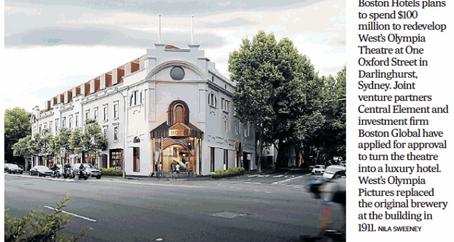 Development revitalising Oxford St, Paddington.