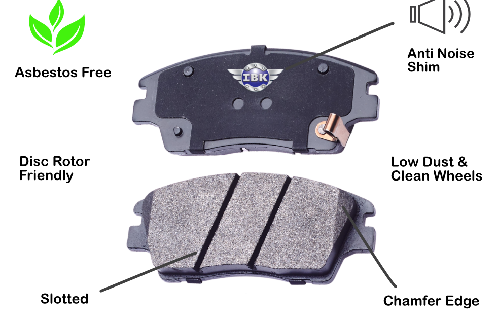 brake pad features