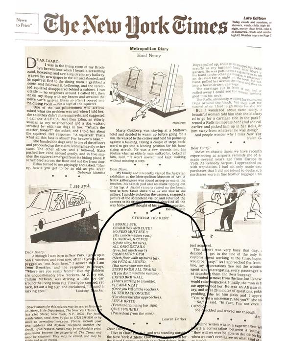 """Metropolitan Diary"""
