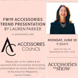 Trend Presentation at AccessoriesTheShow