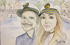 Ger and Mollie Caricature