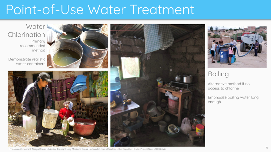 """""""Point-of-Use Water Treatment"""" Slide"""