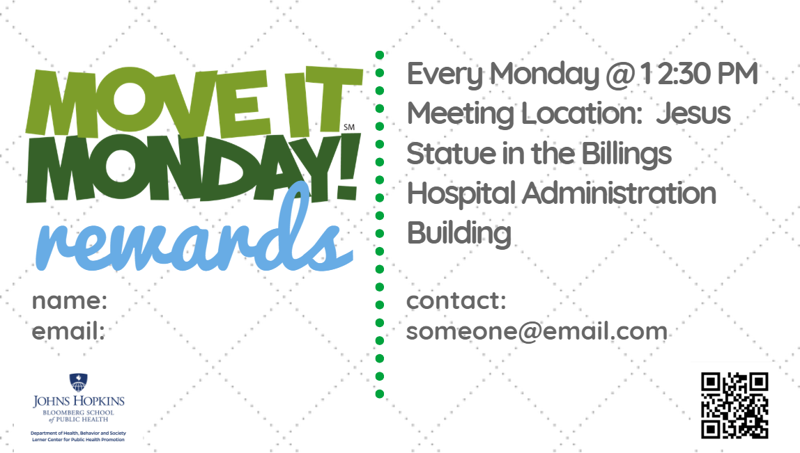 Move-It Monday Business Card - Front