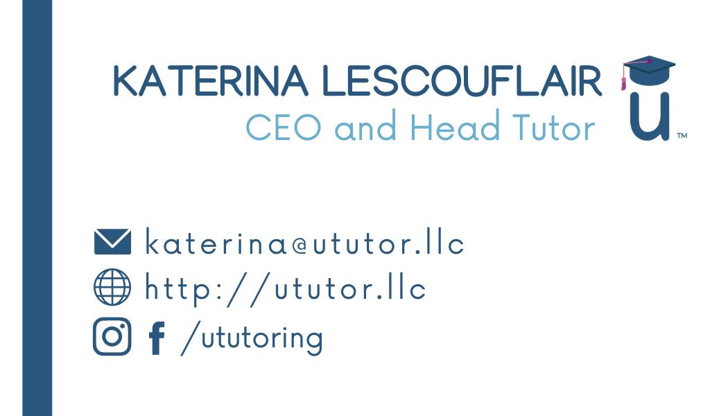 uTutor Business Card - Back