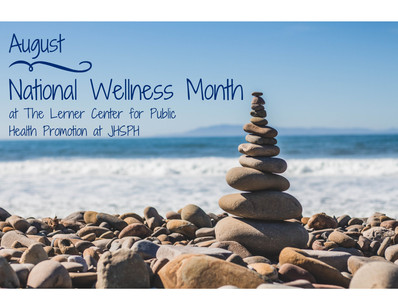 """National Wellness Month"" E-newsletter Graphic"