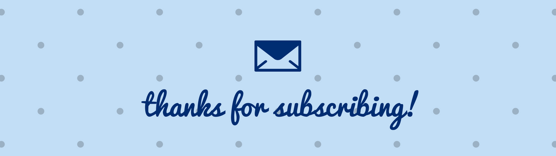 """""""Thanks for Subscribing!"""" Email Header"""