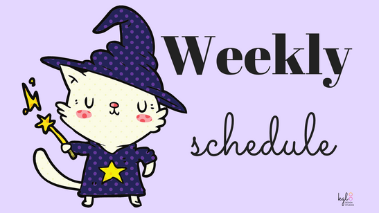 """Weekly Schedule"" Twitch Profile Banner"