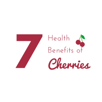 """7 Health Benefits of Cherries"" E-newsletter Graphic"