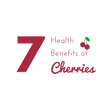 """7 Health Benefits of Cherries"" E-newsletter Graphic"