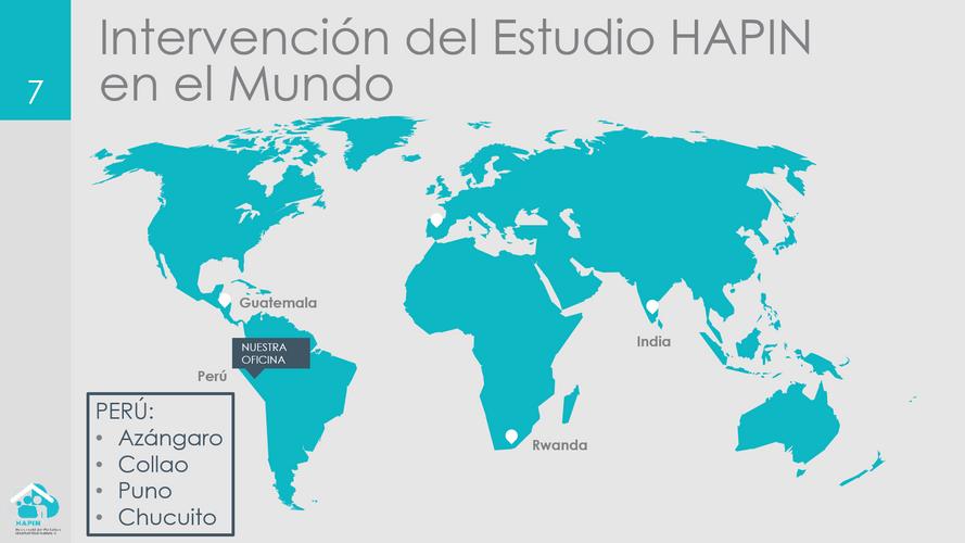 """HAPIN Study in the World"" en espanol Slide"