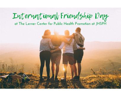"""International Friendship Day"" E-newsletter Graphic"