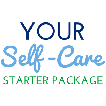 """""""Your Self-Care Start Package"""" E-newsletter Graphic"""