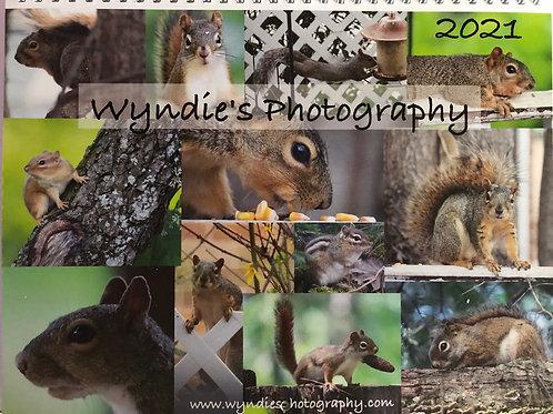 2021 Squirrel Calendar