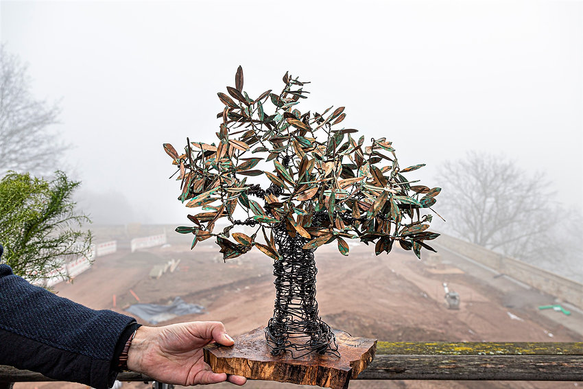 Paradiesbaum en miniature – das Original soll etwa sieben Meter hoch werden