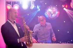 Saxofonist en DJ