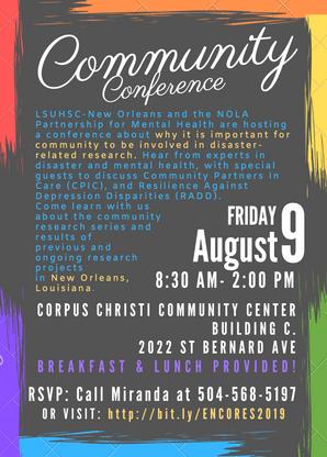 6-ENCORES Community Conference Aug 9 201