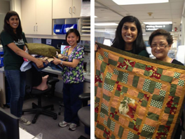 13 Quilts to Kaiser Oncology!