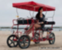 Quadricycle on the beach
