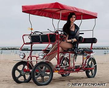 Quadricycle on the beach