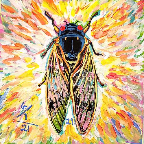 Cicada no. 21, Painting