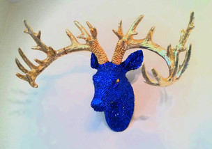Royal Blue and Golden Stag