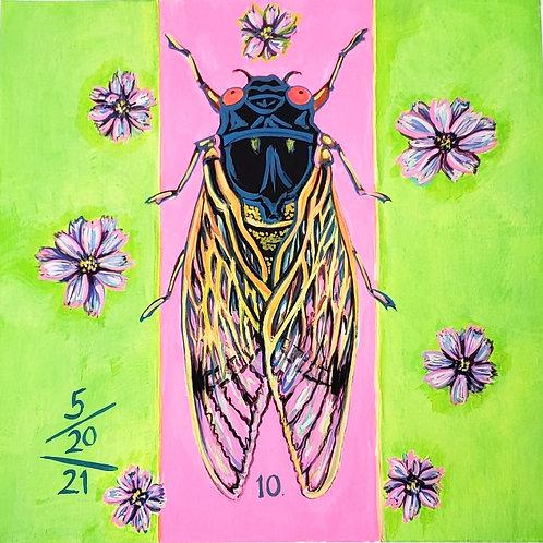Cicada no. 10, Painting