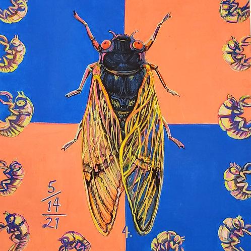 Cicada no. 4, Painting