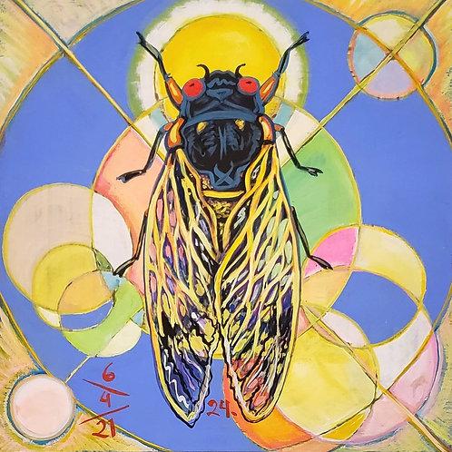 Cicada no. 24, Painting
