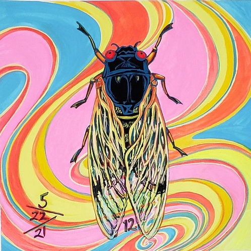 Cicada no. 12, Painting