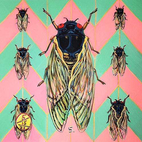 Cicada no. 5, Painting