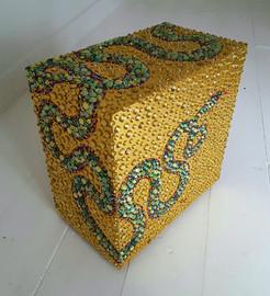 Golden Green Serpent Box Mirror