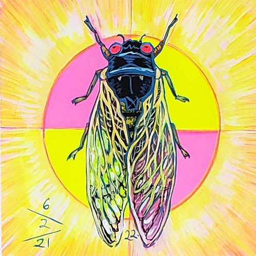 Cicada no. 22, Painting