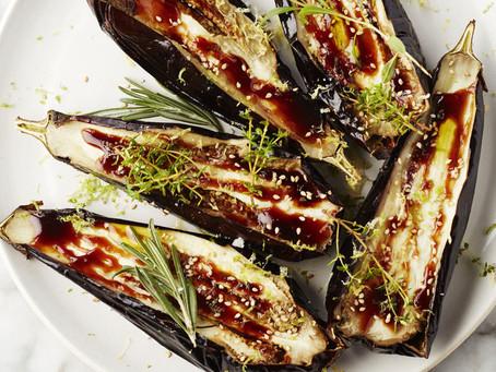 Gelakte aubergine
