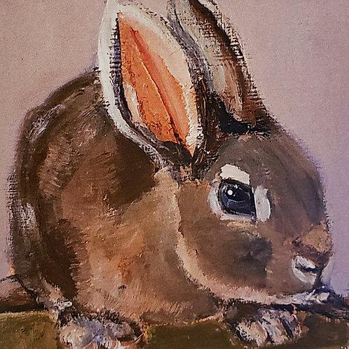 Bunny Animal Pal Print - 4x4 inches