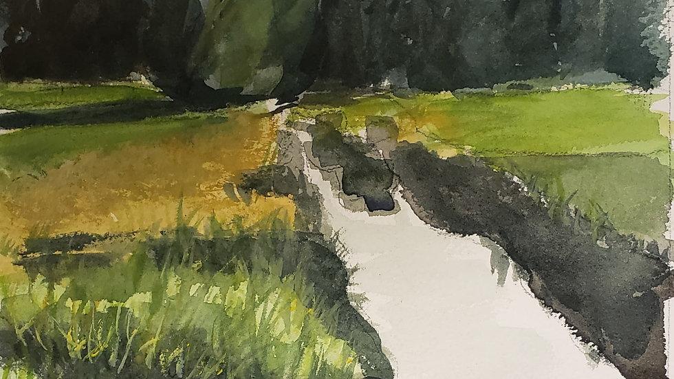 Watercolor Landscape (Block 3 art, 10-22-20)