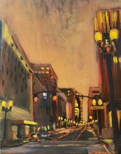 "Orange is the night - 16x20""- $380 -"