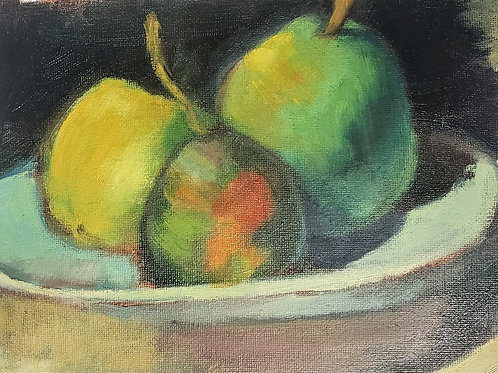 Pear Still life (homage to Cezanne)