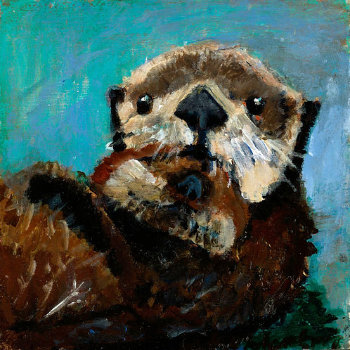 Otter love animal pal print - 4 x 4 inches