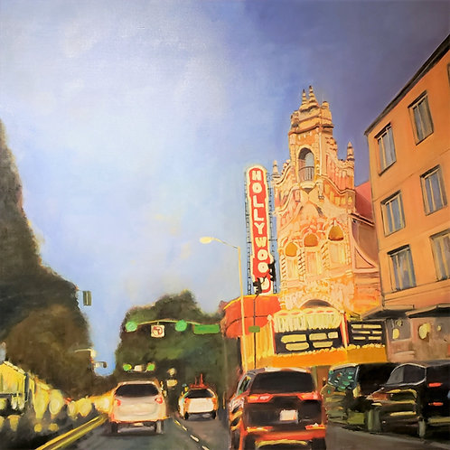Hello Hollywood (Theatre) - 66 x 66 inches