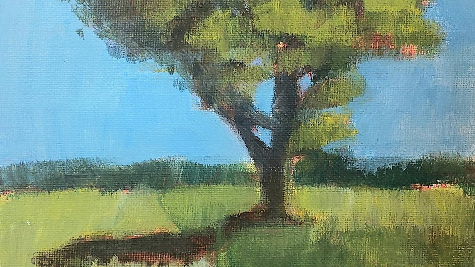 Single Tree in acrylic - 1-17-21