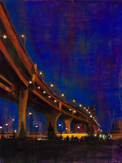 Night Bridge - 24 x 30 in