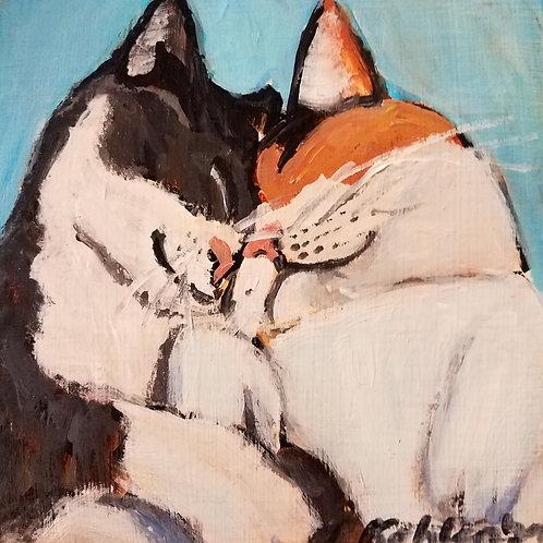 Kitty love animal pal print - 4 x 4 inches