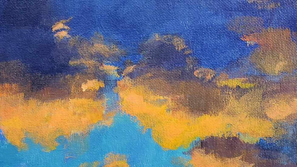 Stormy clouds in acrylic - 1-10-21
