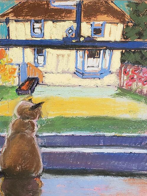 "Kitty Daydreaming - 8 x 10"""