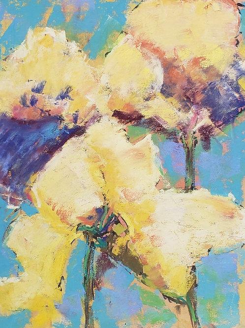 """Yellow Iris trio - 8x10"""""""