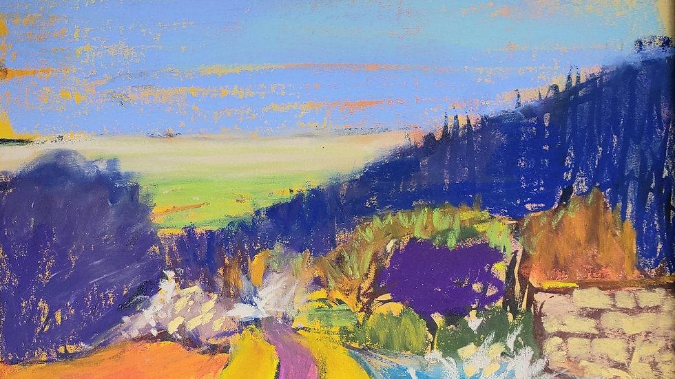 Pastel Landscape - art class demo 11-17