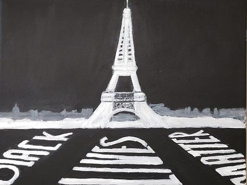 Prints: Eiffel Tower - Black Lives Matter